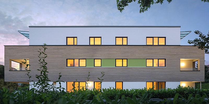 Neubau Weidweg, Mehrfamilienwohnhaus mit 6 Wohneinheiten, ein Projekt der Geiser TGA